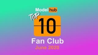 Pornhub Model Program Top Fan Clubs of June 2020