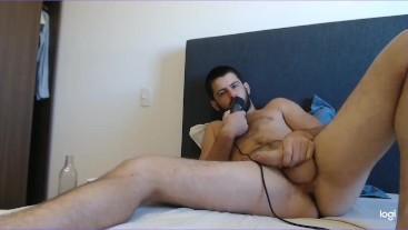Solo buddy loud moaning and jerk on cam joi