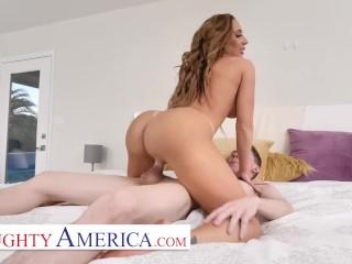 Naughty America - Richelle Ryan fucks her son's perverted friend