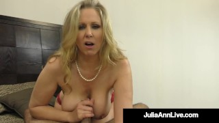 Titty Fucking Milf Julia Ann Mouth, Booby & Hand Fucks Dick!