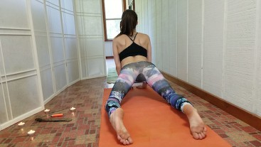 Stretching In My Tight Yoga Pants