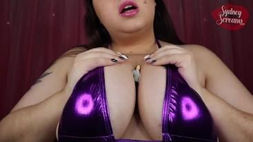 Giantess Shrunken Man Worships Shiny Bikini Clad Goddess Big Tits - Sydney Screams