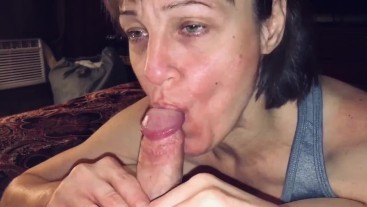 Mature cougar wife love's devouring young meat