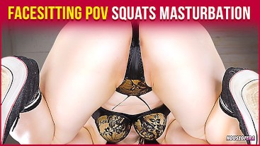 Squats and Masturbation in Tight Panties - Facesitting POV | Era