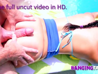 Banging Family – Big Butt Inked Step-Daughter Fucked by the Pool