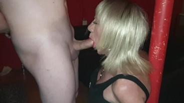Fabulous Blowjob from Sexy Tgirl Pauline at sex club