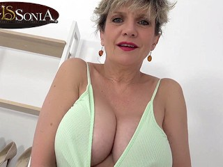 Its titty time with big boob mature Lady Sonia
