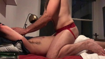 A hot guy taking my dick