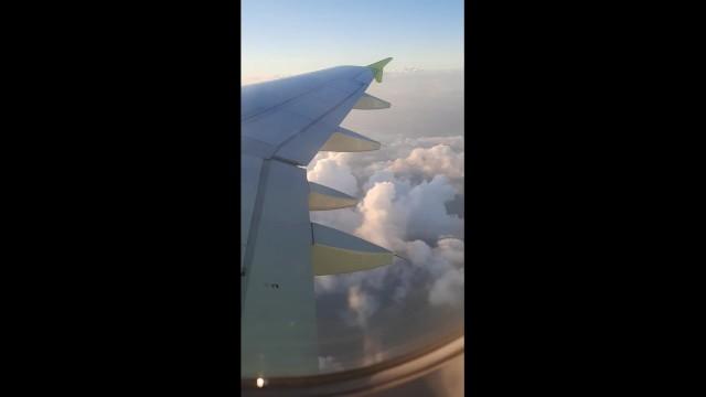 Plane handjob I masturbate on the plane at an altitude of 10,000 meters
