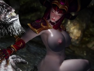 skyrim red Dragon Queen Alexstrasza troll sex