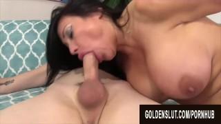 GoldenSlut - Older Ladies Show off Their Cock Sucking Skills Compilation 19