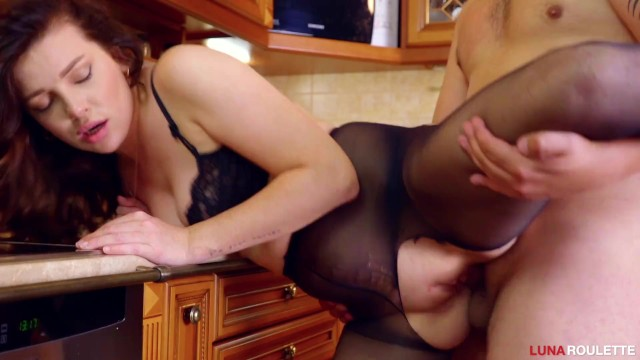 Yiffy xxx Sexy girl fucks in pantyhose and swallows sperm