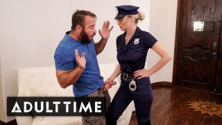 Caught Fapping – Officer Natalia Starr Caught Him With his Cock Out