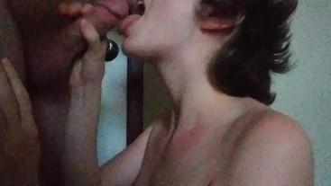 Good girl Sophie continues Deepthroat Training