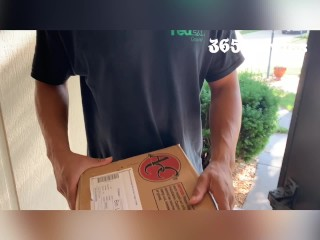 Package Delivery Driver Gets Lucky & Fucks Cops Wife (Married Cheating Blonde Cougar Milf Wants BBC)
