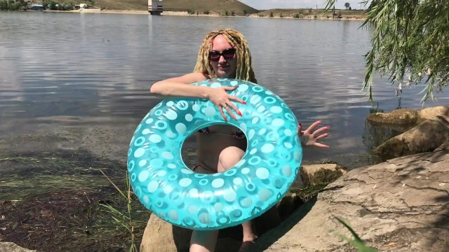 Lake county sex offender registry Inflating a swimming ring on the lake