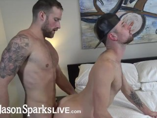 JasonSparksLive - Logan Carter and Drew Dixon suck and fuck bareback