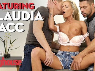 Doghouse – Euro babe Claudia Macc gets dp creampied in threesome