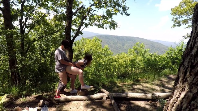 Xxx hannah montanna Public sex on the mountain, cunnilingus sperm kiss