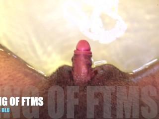HD: UNDERWATER TUB Jerk off, with MASSIVE FTM Transman Cock..