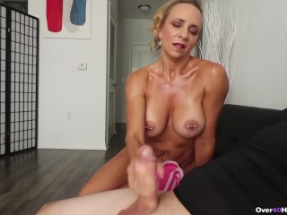 Milf Kenzie made him SPURT – Over40Handjobs