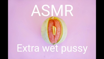 ASMR extra wet pussy with moaning orgasm