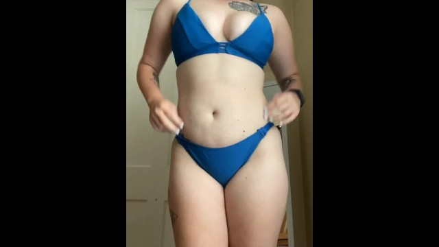 Louis garneau bikini Trying on all my bikinis super wet pussy