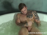 Australian Surfer Straight Dude Christian Shows His Uncut Meat & Cums For Us