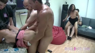 The latina babes receive a hard pounding in the greatest party