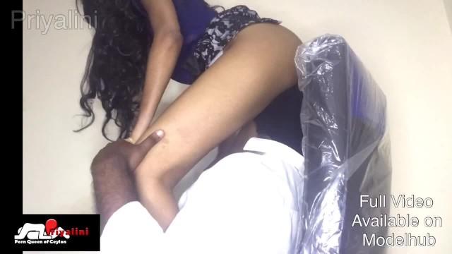 Asian female hot boss Sri lankan office fuck part time සප එක වඩකරන receptionist කලල එකක boss දප සප