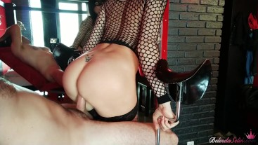 Man Hard Pussy Fuck Babe in Stockings and Cum on Pussy