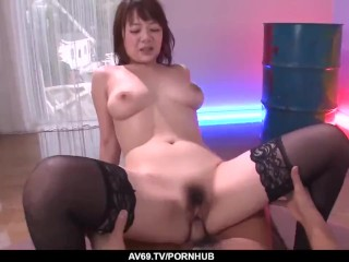 Best threesome to cause Arisa Araki a real orgasm – More at 69avs com