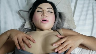 FEMALE MASK FETISH: ROLEPLAY POV Exchange Student fucks her dorm mate and loses her Virginityity....