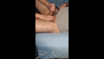 MILF GIVES PERFECT EGDGING, HANDJOB UNTIL CUMSHOT