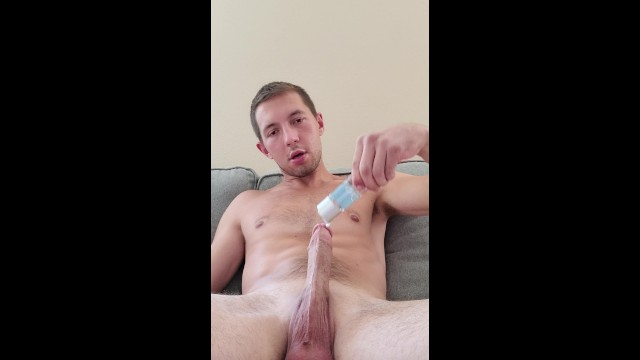 My Massive Fat Cock Lubed Up And Fucking Fleshlight Til I Cum!!