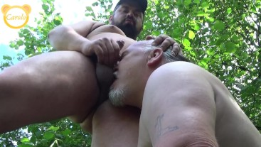 Bearback in the forest