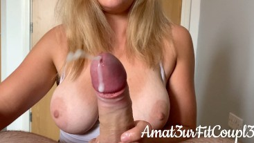 First Time 5 RUINED Orgasms perfect HANDJOB AND TORTURE