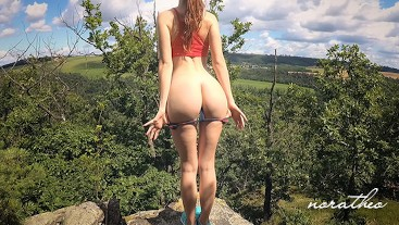 Outdoor Public Sex with Hot Redhead Teen