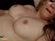 Shemale Shows Armpits while Stroking Her Monster of a Giant Cock