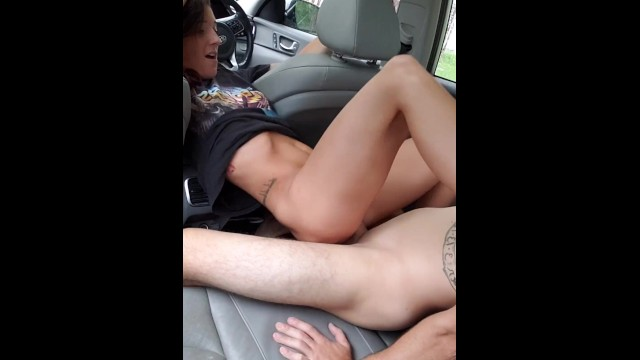 Joey stefano nude Horny couple fucks in car back to back creampies in juicy pussy