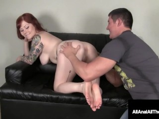 Pale Pussy Misty Dawn Stuffed In Her Itty Bitty Butthole!