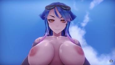 Strong Shark-girl - Mako [3D Hentai, 4K, 60FPS, Uncensored]