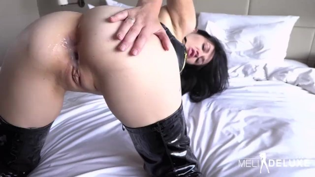 Huge tits and boots Latex boot fuck