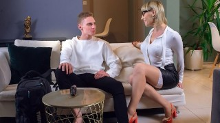 TUTOR4K Man trusted kissable tutor with little friend for the sake of humping