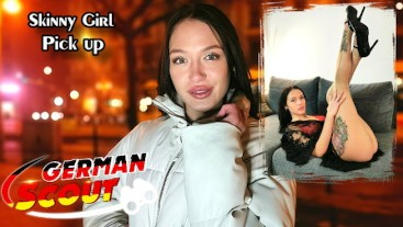 GERMAN SCOUT - SKINNY JEANS GIRL KRIS THE FOX TALK TO EYE ROLLING ORGASM FUCK AT FAKE MODEL JOB 1
