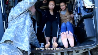 Double foot worship by army commander femdom teen and milf army feet czech soles asian feet