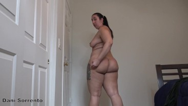 JOI Strip Tease and Ass Clapping- A Dani Sorrento solo custom clip