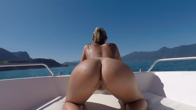 Public ass spread tube Boat summer anal sex - prone bone, outdoor sex, dogstyle, cowgirl - perfectblonde69