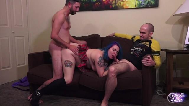 Chubby aisian Tutor teacher fuck chubby student mmf threesome