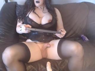 webcam show goth slut teasing